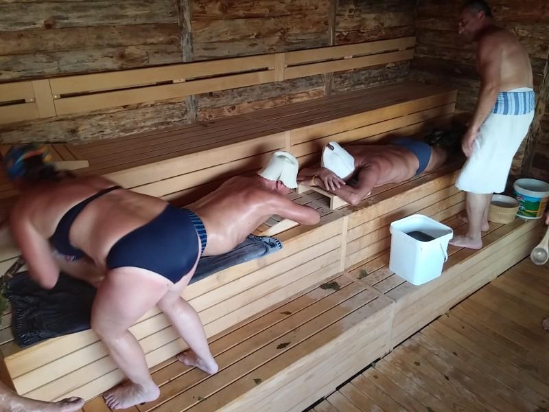 Баня скрытая камера массаж